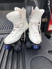 Vintage Roller Derby Skates. Women's Size 6 White Leather Roller Derby Wheels