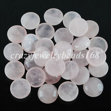 Rose Quartz Round Cabochon CAB No Drill Hole 16x6mm Jewelry Making 5PCS N2049