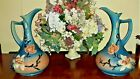 """Pair Of Vintage Roseville Pottery Magnolia Pitchers 16"""" RARE WW II 1943 #15-15"""