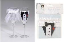 Victoria Lynn Bride & Groom Decorative Champagne Glass Covers Wedding Favor