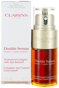 Clarins For Women Double Serum Complete Age Control Concentrate 1oz Shopworn New