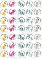 35 x My Little Pony inspired Labels 37mm Stickers Party bag sweet cones seals