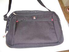 SWISSGEAR WENGER BLACK COMPUTER LAPTOP CASE BAG TABLET IPAD ORGANIZER 16x12x4