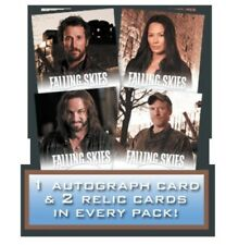 "FALLING SKIES ""1 PREMIUM PACK"" CONTAINS 1 AUTOGRAPH, 2 RELICS, 4 CHASE CARDS!!!"
