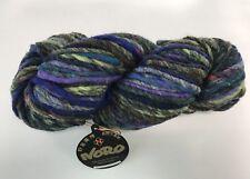 NORO YOROI Wool/Cotton/Silk bulky yarn #4 purple/brown/olive/navy