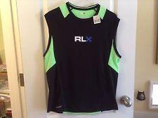 RLX Ralph Lauren Athletic Sport Bike Shirt BLACK/NEON Lightweight DRIVENT  L $99
