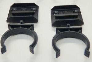 BLACK PLASTIC KITCHEN LEG PLINTH KICK BOARD CLIPS BRACKETS SCREW FIXING 32mm