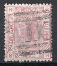 GB QV 2 1/2d rosey mauve plate 9 lettered BH numeral postmark