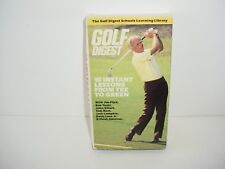 Golf Digest 10 Instant Lessons VHS Video Movie
