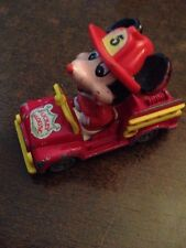 TOMY PD2 WALT DISNEY PRODUCTIONS MICKEY MOUSE FIRE TRUCK 2.5 INCHES LONG HAS PAI