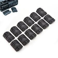 Universal 20mm Weaver Picatinny Rubber Rail Covers Hand Guard Black FO