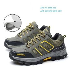 Men's Construction Breathable Working Safety Shoes Steel Toe Sole Work Boots