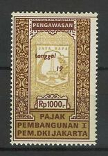 Indonesia Revenue Stamp Fiscaux Fiscal Taxpaid Pajak Pegawasan Pembangunan Jakar