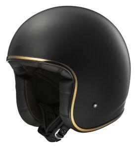 LS2 OF583 BOBBER MATTE BLACK OPEN FACE JET HELMET MOTORCYCLE SCOOTER FIBERGLASS