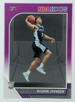 2019-20 Panini NBA Hoops Purple Keldon Johnson Rookie RC #224, Spurs, Parallel
