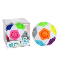 Rainbow Ball Magic Cube Fidget Toy Party Favor Puzzle Gifts for Kids Adults