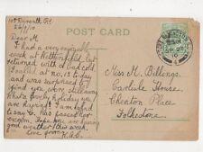 Miss M Billings Carlisle House Cheriton Place Folkestone 1910 446b