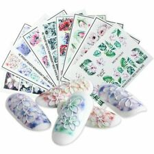Embossed 3D Flower Nail Sticker Acrylic Engraved Nail Art Tips Decal Decoration