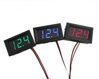 DC 0-30V 3 wire LED digital display panel volt meter voltage voltmeter car-mo Fy