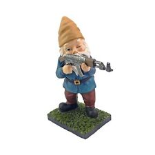 Military Garden Gnome with an Ak47 | Funny Army Statue, Perfect for Gun Lover.
