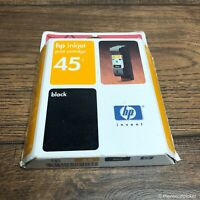 HP 45 Genuine Black Inkjet Printer Cartridge Sealed Unopened Expired 11/2002