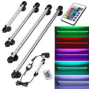 Aquarium Fish Tank 5050 RGB LED Strip Lights Bar Lamp Submersible Lights UK Plug