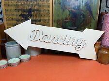 WOODEN DANCING ARROW SET SIGN Shape 34cm (x1) lasercut wood shapes wedding party