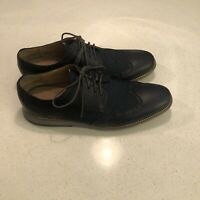 Cole Haan Grand Os Black/Blue Casual Wingtip Oxfords Shoes Mens Size 11.5 M