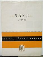 1933 Nash Special Eight Sedan Roadster Coupe 1170 Series Sales Folder Original