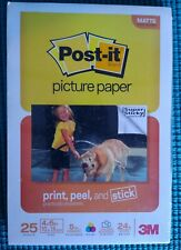 """Post it Sticky Picture Paper Sheets 4x6"""" Inkjet Matte 25 Sheets print peel craft"""
