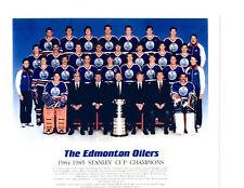 1984 1985 WAYNE GRETZKY EDMONTON OILERS 8X10 PHOTO HOCKEY STANLEY CUP CHAMPS