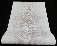 """2645-41) moderne Vliestapete """"Esprit home"""" Blumen Design Tapete weiß beige"""