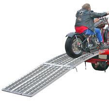 "Black Widow 120"" 3-Beam Wide Aluminum Truck Loading Ramp Motorcycle 4x4 ATV"