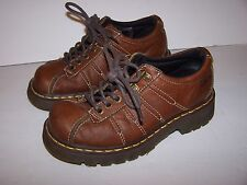 GIRLS BOYS YOUTH DOC DR. MARTENS SHOES BROWN LEATHER OXFORD 9764   SIZE US 5