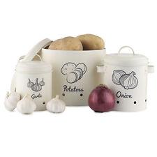 Vorratsbehälter Aufbewahrung Behälter Set für Kartoffeln Knoblauch Zwiebeln