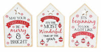 Wooden House Shape Christmas Rules Decoration Kiss Mistletoe Milk Cookies Carols