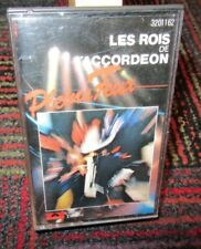 LES ROIS DE L'ACCORDEON: PLEINS FEUX MUSIC CASSETTE TAPE, 12 TRACKS, PARIS, GUC