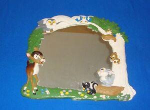 Rare Disneyland Bambi 1960's Large Wall Mirror