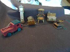 Lot of 6 wooden Christmas Tree Ornaments / doll house furnature