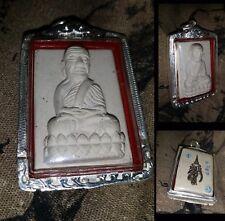 Lp Tuad Wat HuayMongKol (So-Ko) Thai Amulet Statue Powerful in 925 Silver case