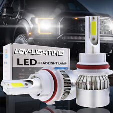 2X 9007 LED Headlight Bulbs Lamp Conversion Kit Hi Lo Beam Headlamp 6000K White