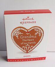 Hallmark Keepsake Grandma The Heart Of The Family Christmas Ornament NIB