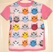RINGSPUN CATS PATTERN T SHIRT SIZE 2..8 10 NEW LOVE YOUR ROSY CHEEKS