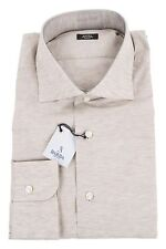 Barba 49% Cotton/51% Linen 17/43 Dress Shirt Sand Brown