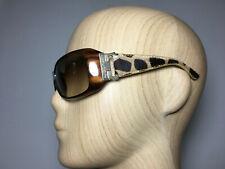 Alviero Martini 1a Class Sunglasses 100% Authentic Brown Leather Arms