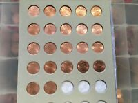 2010 - 2020 BU Lincoln Shield Cents(Pennies) PD Mounted on Storage Board
