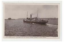 Jersey postcard - L & S.W.R, S.S Alberta Passing Elizabeth Castle, Jersey - RP