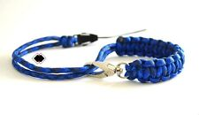 paracord camera wrist strap - blue jean - adjustable swivel clasp - made in USA