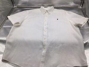 Men's Short Sleeve Dress Shirt 100% Linen By Ralph Lauren Size XXL