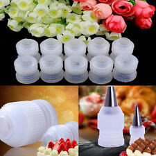 10pcs Coupler Adaptor Icing Piping Nozzle Bag Cake Flower Pastry Decor Tool  IO